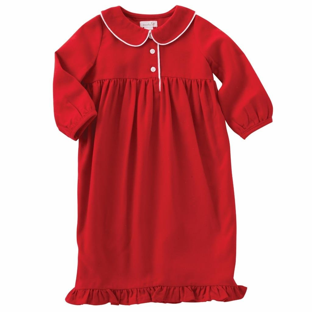 Mud Pie Monogram ME Night Gown, 3T Red by Mud Pie