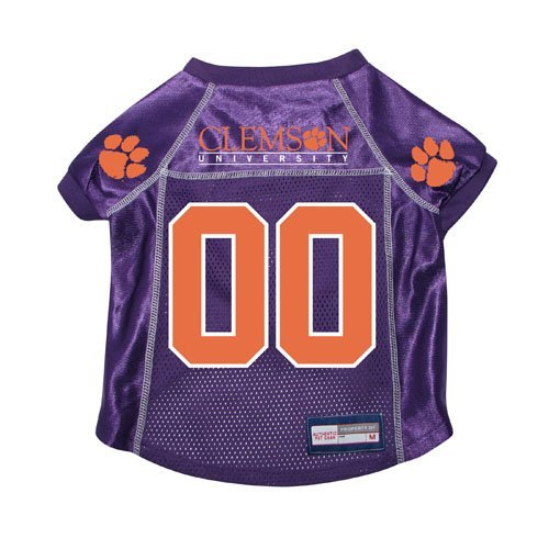 Clemson Tigers Dog Jersey - Clemson Tigers Premium NCAA Pet Dog Jersey w/ Name Tag SMALL