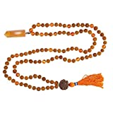 Tibetan Necklace Healing Reiki Carnelian Pendants with Rudraksha 108 Yoga Necklace