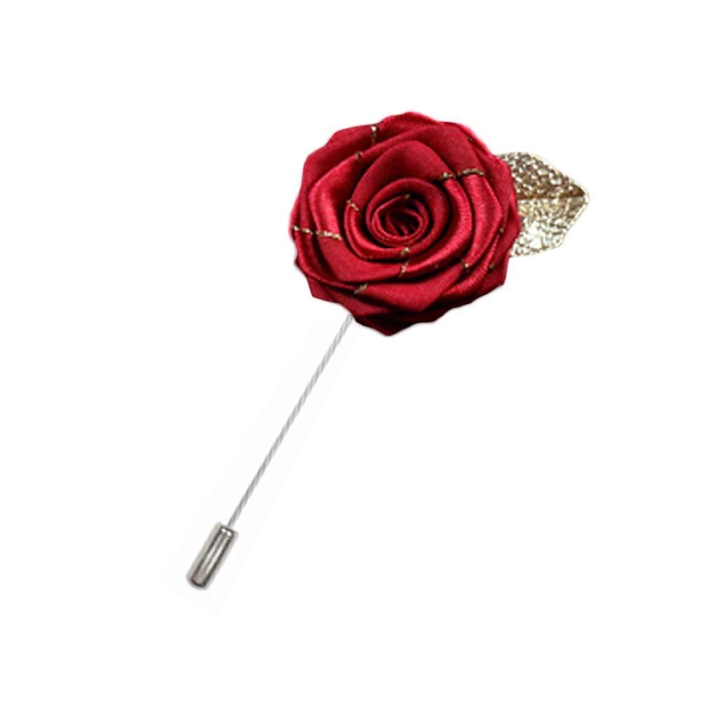 Rosa flor solapa Pin hombres traje broche moda regalo, A13 ...
