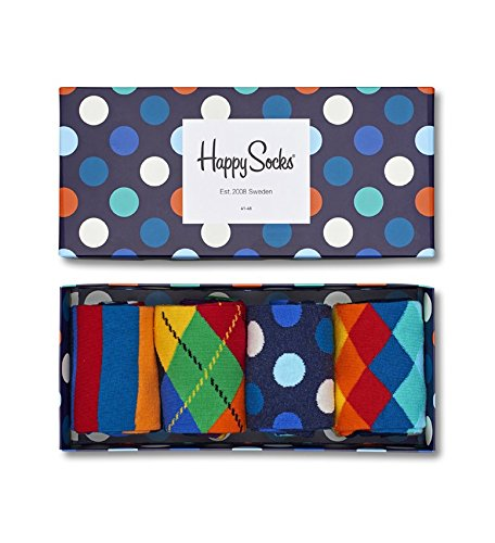 Happy Socks Mix Socks Gift Box Blue,Green,Orange,Red,White,Yellow 10-13 by Happy Socks (Image #3)