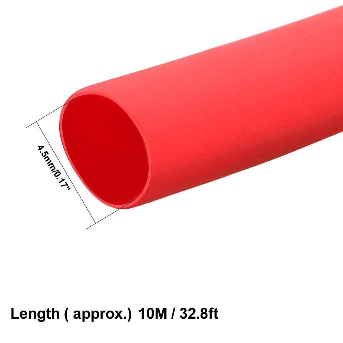 sourcing map Tubo termocontra/íble 2:1 Tubo Aislante el/éctrico Cable forrado de tubos de di/ámetro 8mm Negro Envoltura de 5m de longitud