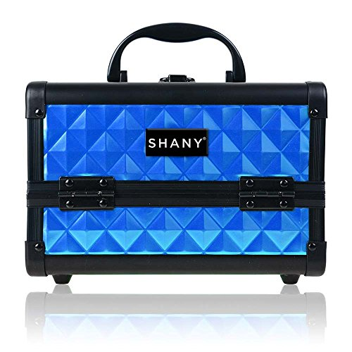 SHANY Mini Makeup Train Case With Mirror - Peacock Blue (Best Makeup Train Case Reviews)
