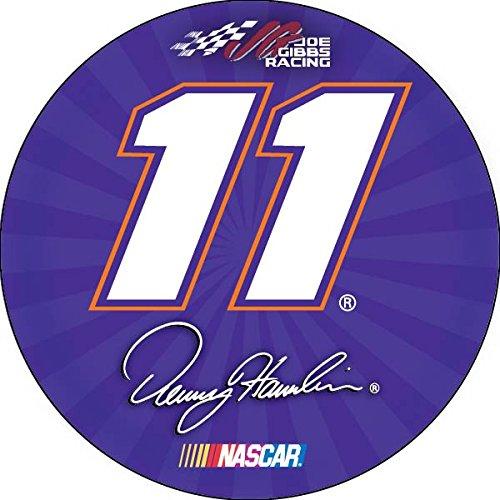 FanNut.com Denny Hamlin #11 4 Round Vinyl Magnet Auto Home Nascar Racing