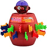 Kids Children Funny Lucky Stab Pop Up Toy Gadget Pirate Barrel Game Toy Popping-up Pirate Doll Toy Barrel Piggy Bank