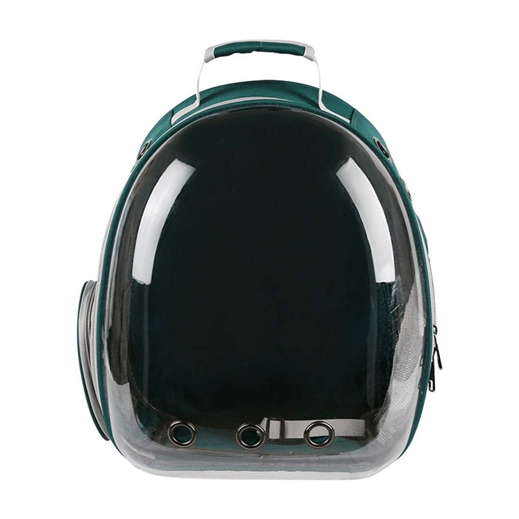 GREEN Pet Backpack Travel Bag Transparent Capsule Reduce Pet Anxiety Bubble Space Cat Carriers Backpack (color   Green)