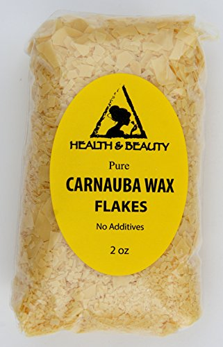 Unscented Palm Votives (Carnauba Wax Organic Flakes Brazil Pastilles Beards Premium Prime Grade A 100% Pure 2 oz)