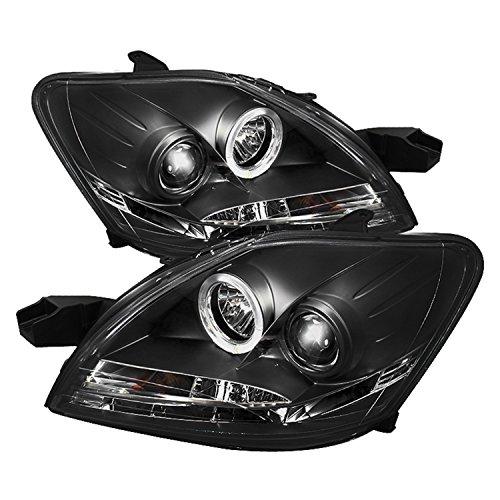 Spyder Auto PRO-YD-TYA074D-DRL-BK Toyota Yaris 4-Door Black DRL LED Projector Headlight