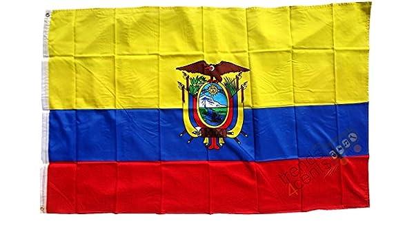 Ecuador Bandera 250 x 150 cm, tamaño grande, impermeable): Amazon.es: Hogar