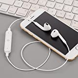 Loveje Bluetooth Wireless In-Ear Earphones Bass Stereo Sports Running Gym headphone Neckband Headphone with Mic (White)