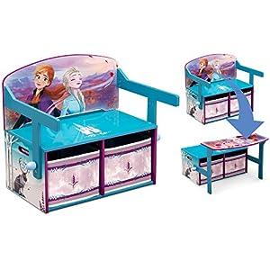 Delta Children Kids Convertible Activity Bench, Disney Frozen II