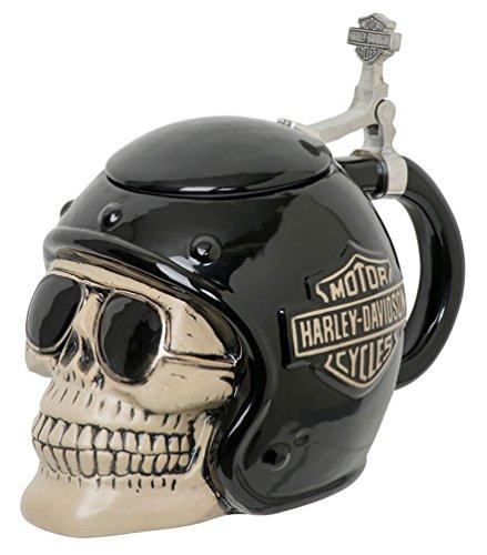 - Harley-Davidson Skull Rider B&S Stein, Sculpted Ceramic, 32 oz. HDL-18608