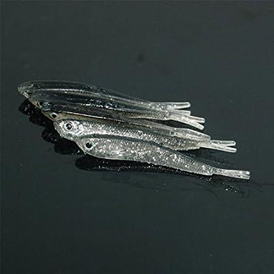 10/pcs 7.5/cm Leurre souple en silicone Tiddler Bait Fluke Poisson P/êche Mer Minnow Cuill/ère Jigs Crochets de p/êche
