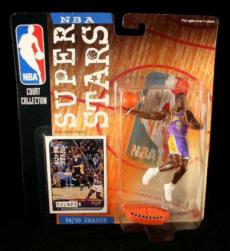 - KOBE BRYANT / LOS ANGELES LAKERS * 98/99 Season * NBA SUPER STARS Super Detailed Figure, Display Base & Exclusive Upper Deck Collector Trading Card