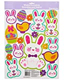 American Greetings Easter Bunny Window Decorations, 20 Count, Multicolored