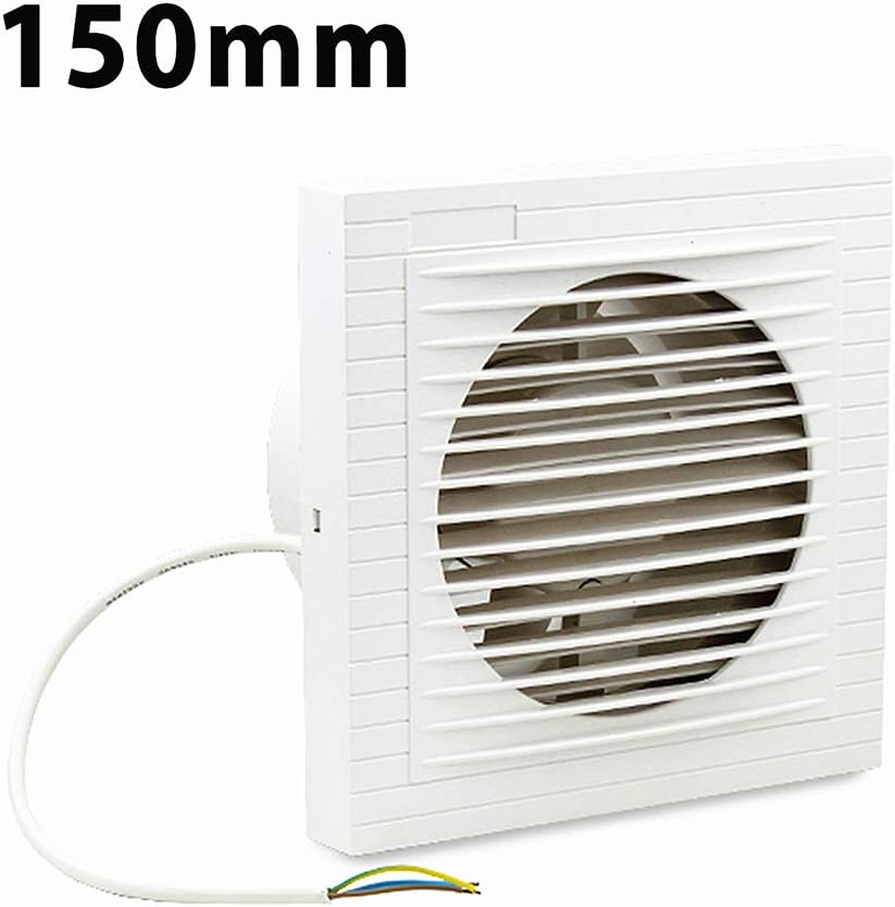 Ventiladores extractor de baño aire 150 mm Silencioso, Ventiladores de baño, Ideal para baño,cocina,inodoro,oficina,silencioso,alta calidad