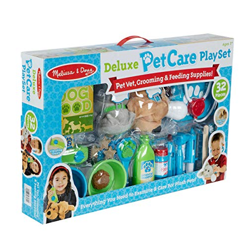 M-D Deluxe Pet Care Vet, Grooming, Feeding Play Set - 32 Pieces]()