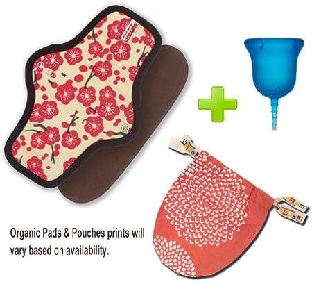 SckoonCup Menstrual Cup y orgánico Pad Set – Meditación ...