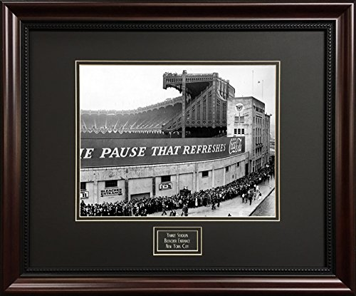 Deluxe Black and White New York City Print - Yankees Stadium Bleacher Entrance - Framed Vintage Photograph by Picture That