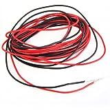Facilla® Silikon-Kabel, Stärke 0,64 mm (22 Gauge) AWG, flexibel, 2 x 3 m, Rot / Schwarz