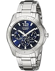 Citizen Mens Quartz Stainless Steel Watch with Day/Date, AG8300-52L