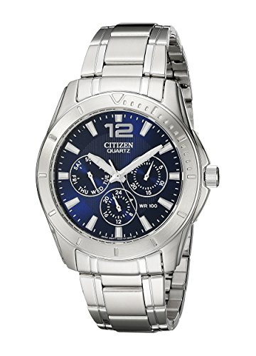 Citizen Men's Quartz Stainless Steel Watch with Day/Date, AG8300-52L ()