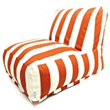 Majestic Home Goods Burnt Orange Vertical Strip Bean Bag Chair Lounger Review