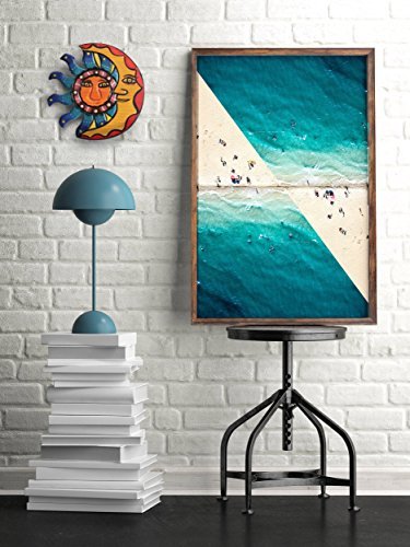 Sun and Moon Hangings, Outdoor Wall Art and Wood Decor for Summer Beach House, Garden, Living Room, Fireplace as an Outdoor Home Decoration Idea. Sculpted Country 8.25 x 8.25 inches Hanging Set