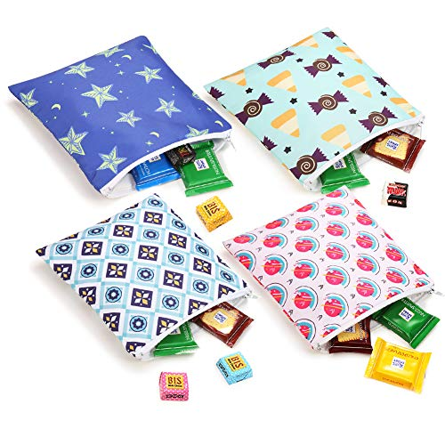 - Reusable Snack & Sandwich Bags Washable Eco Friendly Dishwasher Safe Lunch Bags 4 star