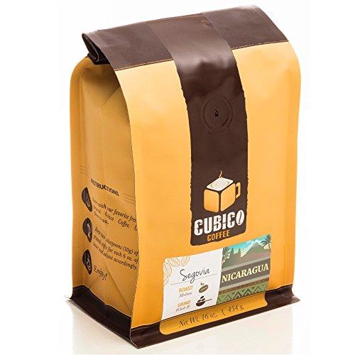 Nicaragua Coffee - Whole Bean Coffee - Freshly Roasted Coffee - Cubico Coffee - 16 Oz (Single Origen Organic Segovia Nicaraguan Coffee)
