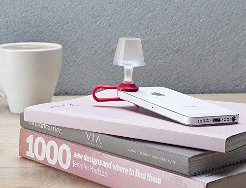 Peleg Design- Luma Smart Mobile Phone Night Light- Tiny Lampshade Clip on Phone Flash Led Light Holder, Red by Peleg Design (Image #4)