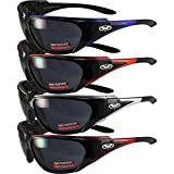 4 Pair of Global Vision Morocco Smoke Lens Motorcycle Riding Sunglasses