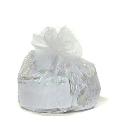 Clear 8 gallon Trash Bags, High Density, 24x24, 8 gallon 1000/Case 8 Microns: Home Improvement