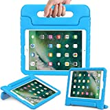 AVAWO New iPad 9.7 2017 Model Kids Case - Light Weight Shock Proof Convertible Handle Stand Friendly Kids Case for Apple iPad 9.7-inch 2017 Latest Gen / iPad Air / iPad Air 2 Tablet - Blue