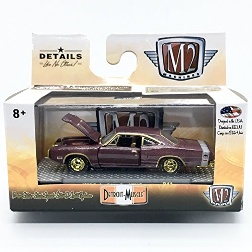 (M2 Machines Limited Edition Chase Piece 1970 Dodge Super Bee HEMI - Detroit Muscle Release 41 2018 Castline Premium Edition 1:64 Scale Die-Cast Vehicle & Display Case Set (1 of only 750))