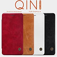 Nillkin OnePlus X Qin Leather Case, Retail Packaging, Red