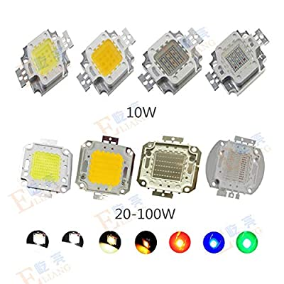 Cold White, 10W : High Power LED Chip 1W 3W 10W 20W 30W 50W 100W COB SMD LED Bead Warm Cool White RGB Red Blue Green for led Floodlight Spotlight