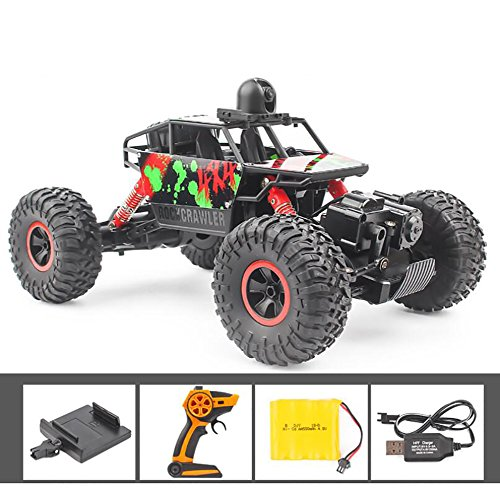 CFZHANG Remote Control Car Off-Road Rock 1:18 Aerial Photography 5 Million Pixels To Film Vehicle Climber Truck Toys Children Games Funny Gifts Cool Gadgets For Boys Girls Teenagers Adults, (Aerial Film)