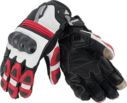 Pilot Motosport SPEC-RS KNOX Armor Leather Motorcycle Gloves