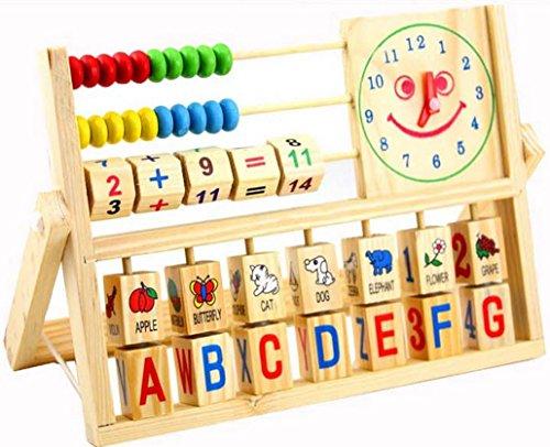 Happy Cherry Juguete Multifuncional De Matematicas Con Abaco Reloj