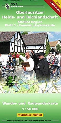 Oberlausitzer Heide- und Teichlandschaft - Blatt 1 KRABAT-Region, Kamenz, Hoyerswerda: Wander- und Radwanderkarte 1:50 000 wetterfest, reißfest, GPS-fähig