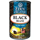 Eden Organic Black Beans, No Salt Added, 15-Ounce Cans (Pack of 12)
