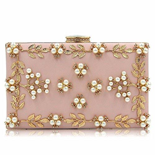 de soir diamond multicolor embrayage sac qualité sac pearl haute black broderies pearl nouveau Rose fPIn0qxEx