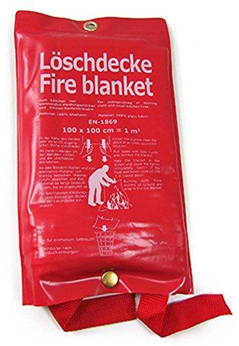 Carparts-Online 26442 L/öschdecke Feuerl/öschdecke DIN EN-1869 100 x 100 CM