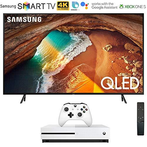 "Samsung QN82Q60RA 82"" Q60 QLED Smart 4K UHD TV (2019 Model) with Microsoft Xbox One S 1TB Console Bundle"