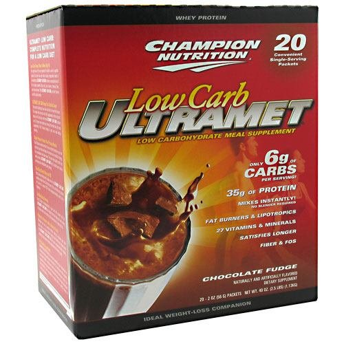 Champion Nutrition Low Carb Ultramet Chocolate Fudge - 20 - 2 oz packets