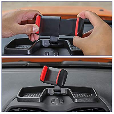 Car Dash Tray Cell Phone Holder Mount, 360 Degree Rotatable Phone Holder Stand Dashboard Storage Organizer Tray for Jeep Renegade 2014 2015 2016 2020 2020 2020: Automotive