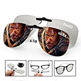 3D Viewing Surprise For Eyewear Users | Bigger 3D Glasses Clip On Glasses For Movie/Cinema/Theater/3D TV/3D Projector | 100% NO visual interference | Lightest And Most Comfortable | 2 PACK(RealD&IMAX)