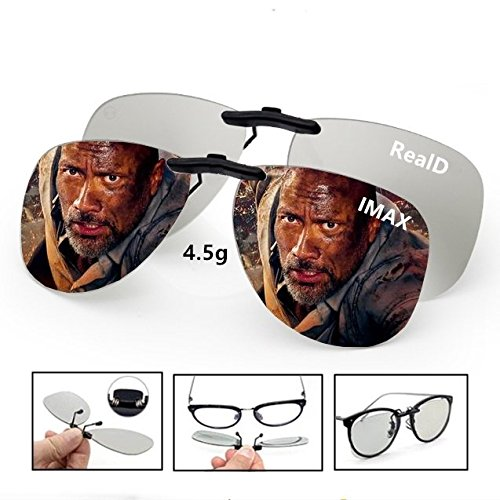 Bridge Engineering Micro (3D Viewing Surprise For Eyewear Users | Bigger 3D Glasses Clip On Glasses For Movie/Cinema/Theater/3D TV/3D Projector | 100% NO visual interference | Lightest And Most Comfortable | 2 PACK(RealD&IMAX))