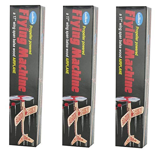 (Guillow's Balsa Wood Flying Machine Kit, 3 Pack)